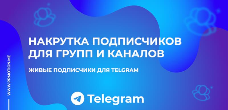 Накрутка подписчиков для групп и каналов Телеграм