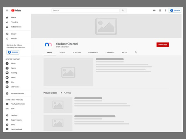 add a visual identity to your YouTube channel by placing an appealing cover art.