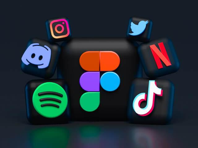 various social media platforms